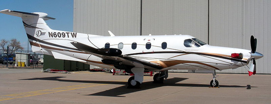 Pilatus PC-12 at Centennial Airport in Colorado