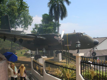 RMAF Caribou on display at the Malaysian Army Museum, Port Dickson.