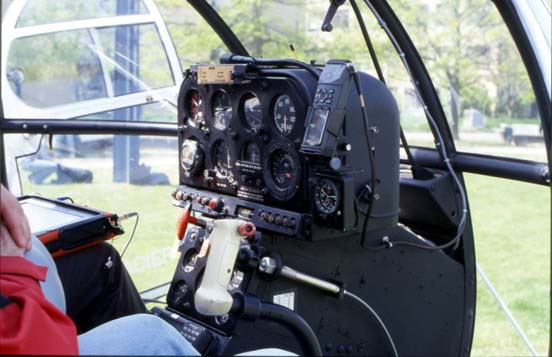 Cockpit of an Alouette III