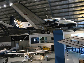15 Herons have been operated in Australia since 1952 by carriers such as Butler Air Transport (Tamworth), Connellan Airlines (Alice Springs), Southern Airlines (Melbourne), Kendall Airlines (Wagga Wagga), Heron Airlines (Sydney) and Airlines of Tasmania (Launceston). VH-NJI see here at Australia's Museum of Flight in 2006, has had a long and varied career. Serving initially with Turkey's national carrier, THY, from 1955 to 1966, it subsequently served with Royal Air Canada (1966 - 1969) and the North American operators Fleet Air (1969 – 1971), Swift Air (1971 – 1978) and Susquchanna Airlines (1978 – 1985) who then sold it to Fiji Air (1985 – 1991).