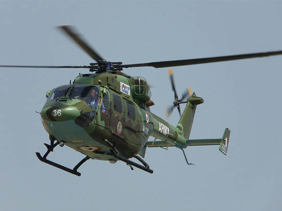 HAL Dhruv in-service with the Indian Army at ILA 2008.