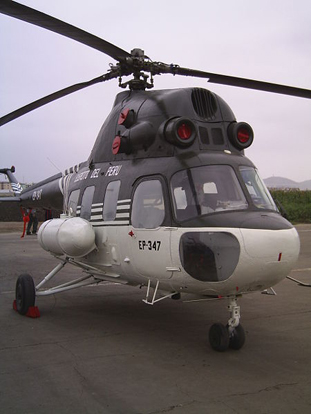 Peruvian Army Mi-2 on display at Las Palmas Airbase, 2006