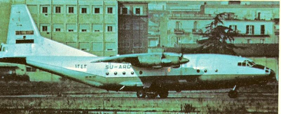 An Egyptian An-12 in Italy (1977)