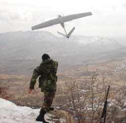 Bayraktar Mini UAV, first mini unmanned aerial system used by Turkish Armed Forces.