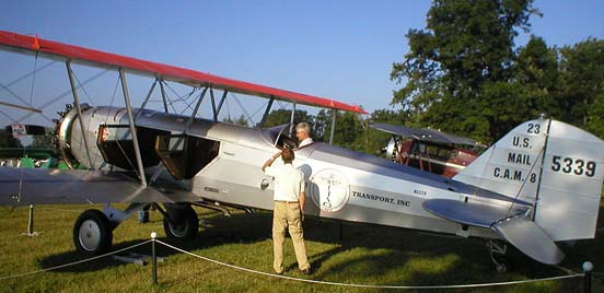 Model 40C at Oshkosh 2008. Both passenger entry doors, one for each of the two-seat rows, are on the left side of the fuselage.
