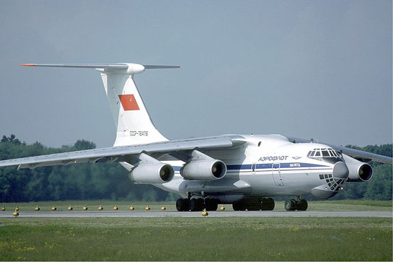 Il-76TD, one of the first variants, at Zurich Airport.