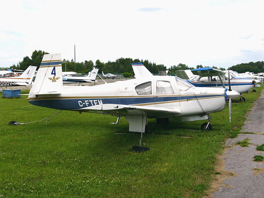 A very early production 1964 model Mooney M20E Super 21