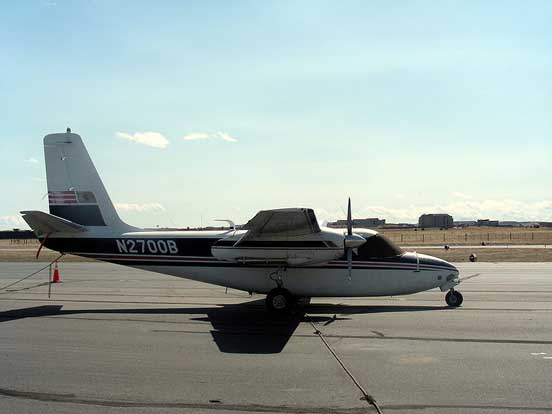 Aero Commander 560 at Centennial Airport