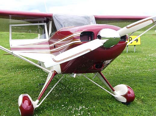 Miss Pearl, an award winning conversion of a Piper PA-22-135 Tri-Pacer to conventional landing gear.