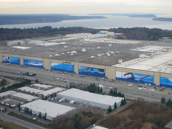Boeing's Everett Facility, selected as the site of 787 final assembly.