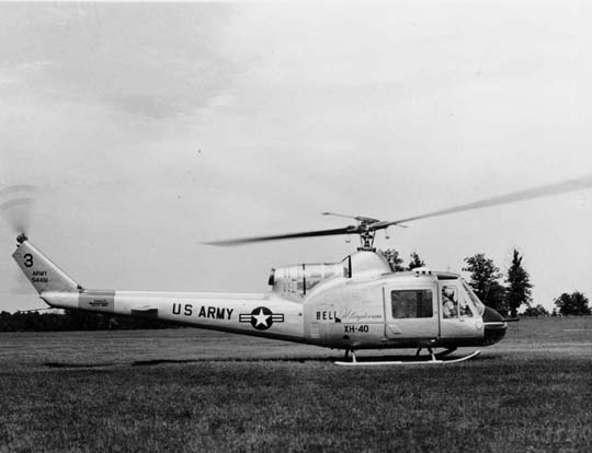 A Bell XH-40, a prototype of the UH-1 and Bell 204