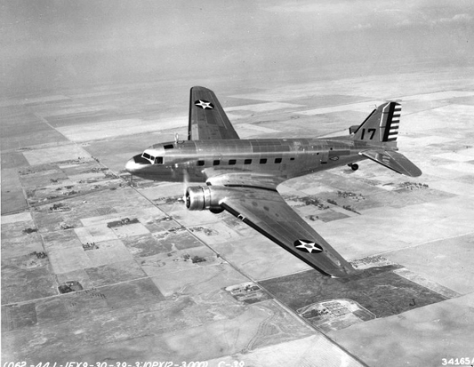 Douglas C-39 transport, the military version of the DC-2