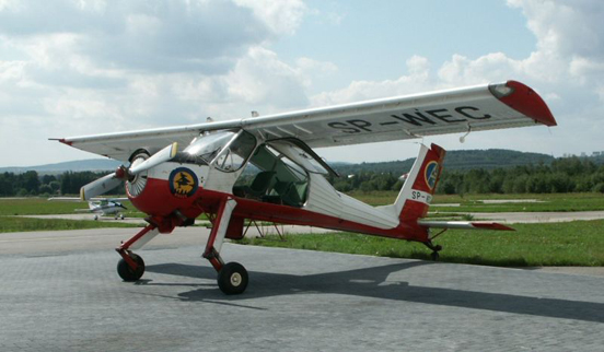 PZL-104 Wilga 35A with open door