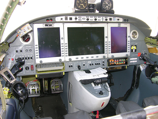 Original cockpit layout of prototype aircraft