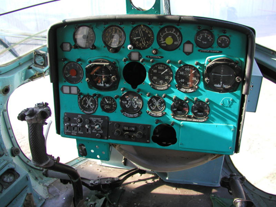 Cockpit of Mi-2 exhibited in Aviation Museum, Kosice, Slovakia