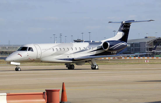 Embraer Legacy 600 at Birmingham International Airport, England