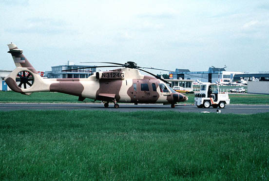 A S-76B prototype helicopter at 1991 Paris Air Show