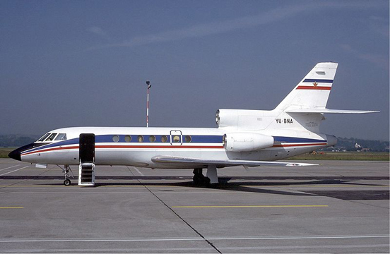 Yugoslav Government Falcon 50 at Basle in 1984