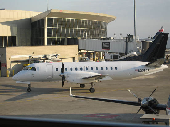 Saab 340B operated by Colgan Air at Logan International Airport