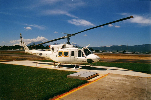 Alpine Helicopters Bell 212 on UN peacekeeping duty in Guatemala, 1998