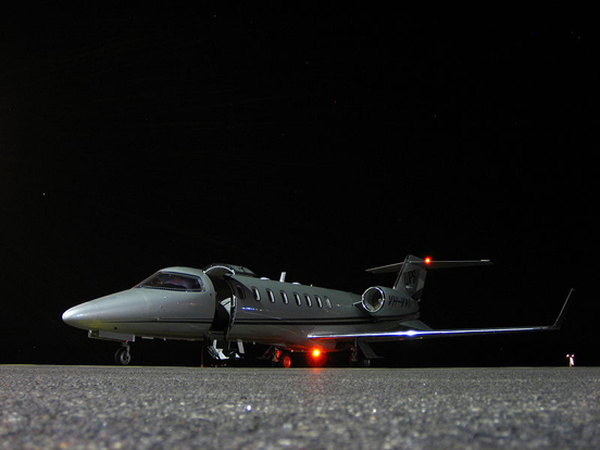 Nighttime View of the Learjet 45