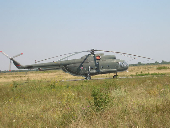 Serbian Mi-8T cargo helicopter