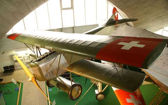 Preserved D.VII in Swiss markings