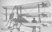 Russian Triplane equipped with skis