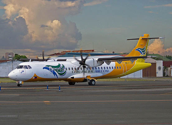 Cebu Pacific ATR-72 at the Ninoy Aquino International Airport.