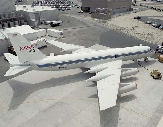 NASA Convair 990. This aircraft has since been retired and is now on display at the entrance to the Mojave Spaceport.
