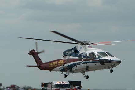 A Palm Beach County Fire-Rescue Traumahawk Air Ambulance. (S-76C+)