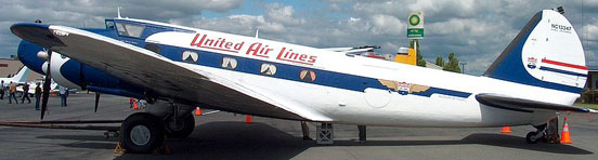 The last airworthy Boeing 247, in United Air Lines markings at Paine Field