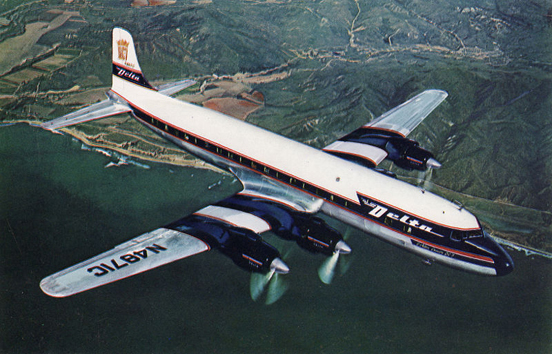 DC-7 in Delta Air Lines livery