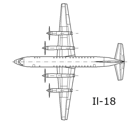 Layout of Il-18