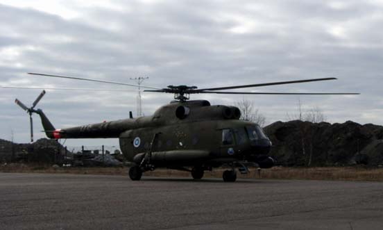 Finnish Mi-8 in Hernesaari, Helsinki, in 2005