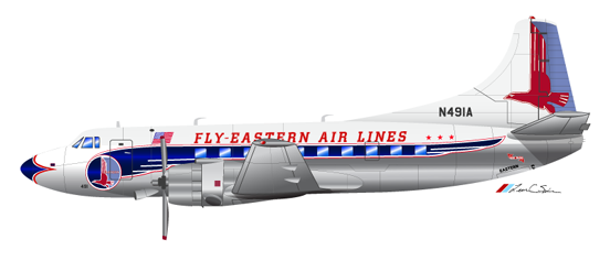 An Eastern Airlines Martin 404 circa 1955