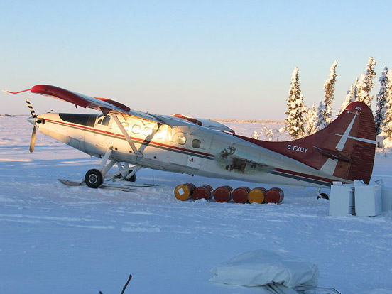 Turbo Otter on wheel-skis