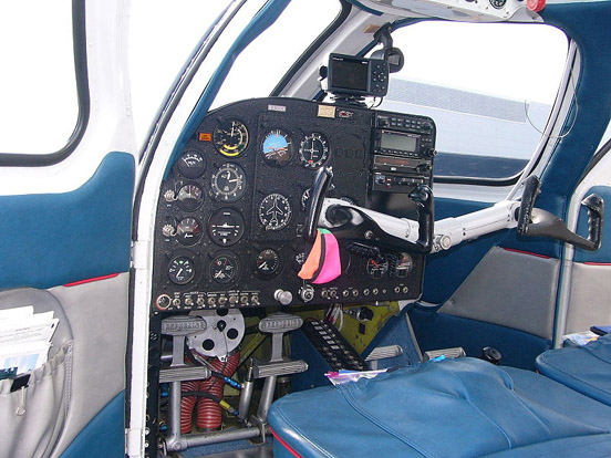 Republic RC-3 Seabee instrument panel and cockpit