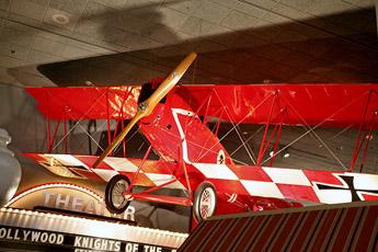 Pfalz D.XII at the National Air and Space Museum. The aircraft wears spurious markings from the movie The Dawn Patrol