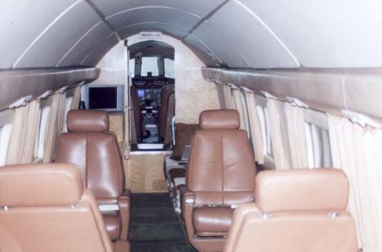 The spacious interior of an executive Howard 500