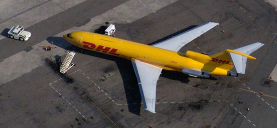 DHL Boeing 727-200F freighter at San Diego