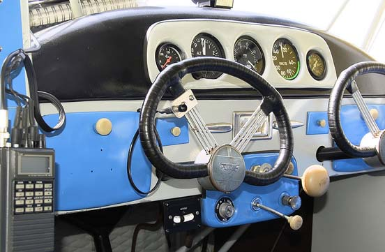 1940 model Aeronca 11AC Chief cockpit