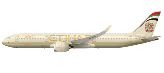 Etihad Airways signed for twenty-five commitments on July 14, 2008 during the Farnborough Airshow.