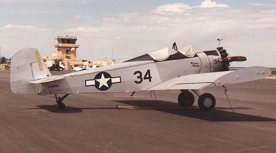 Early Snow S-2A of 1959 with open cockpit and roll-over protection bar at Santa Fe, New Mexico, June 1997, in pseudo-USAAF markings.