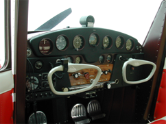 A typical Cessna 140 cockpit.