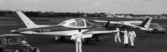 The Beagle B.206X prototype at the Farnborough Show in 1961
