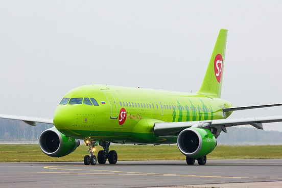 S7 Airlines A319 at Domodedovo International Airport