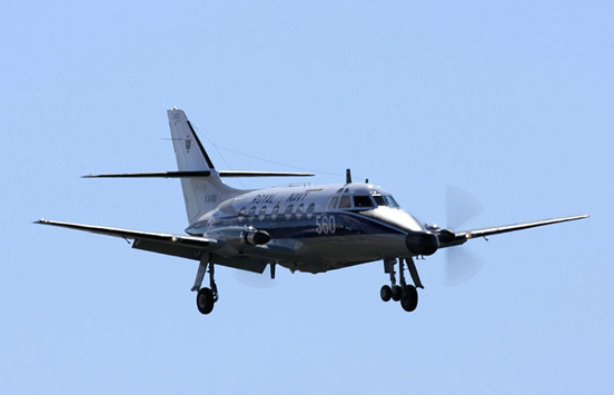 Jetstream T.2 XX481 of 750 NAS landing at RNAS Culdrose