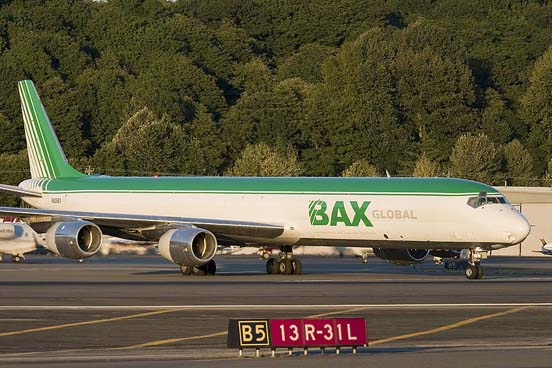 BAX Global DC-8-71(F) at Boeing Field