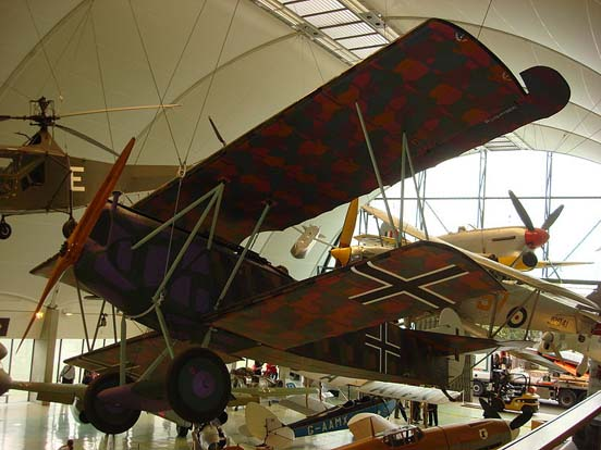 Fokker D.VII displayed at the Royal Air Force Museum